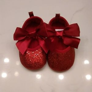 Shoes Baby Girl Red Glitter Crib 69 Months Poshmark